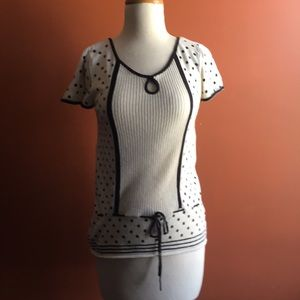 URBAN OUTFITTERS LUX  Polka Dot Black White M